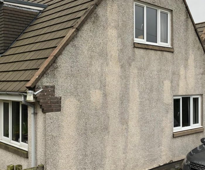 Roughcast Cleaning Lauder Scottish Borders Before
