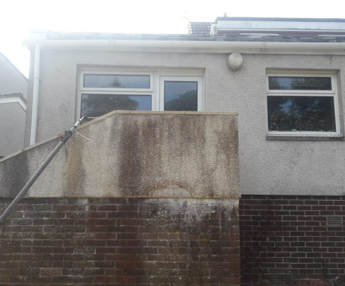 External Stairs Cleaning Before