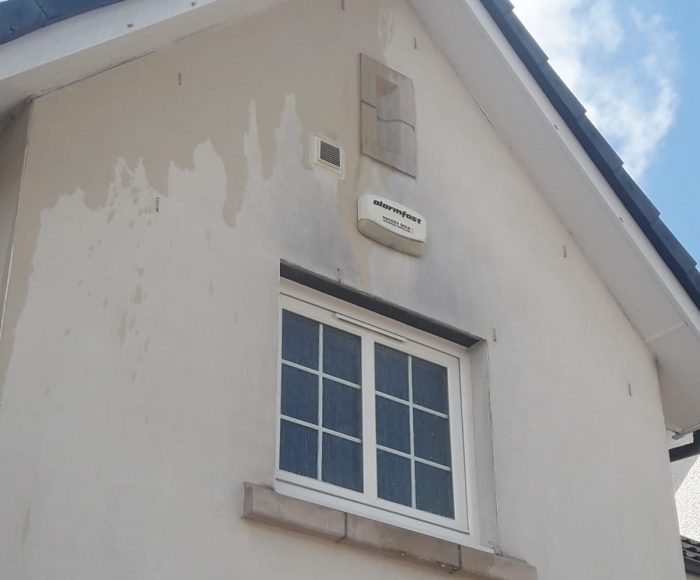 Roughcast Cleaning Larbert  Before