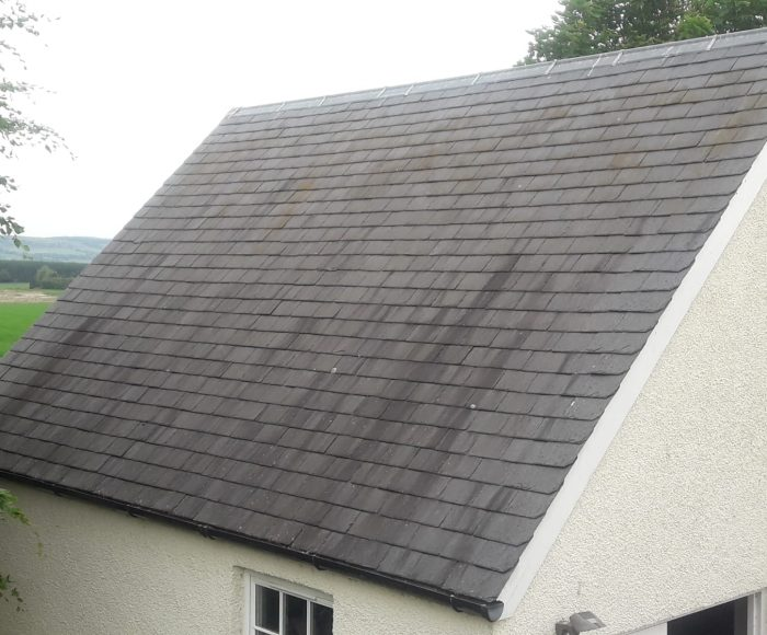 Roof Slate Cleaning Before