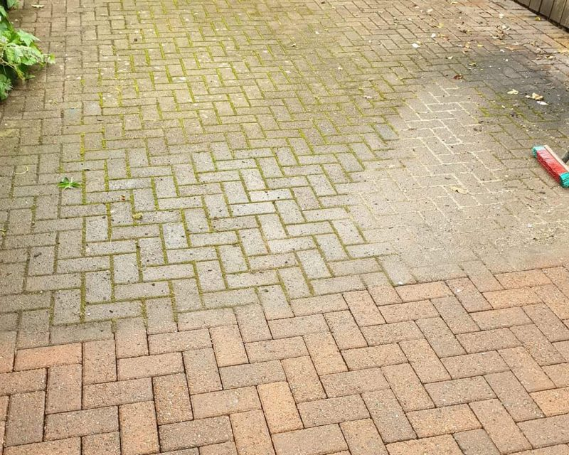 Driveway Cleaning Gartmore Before