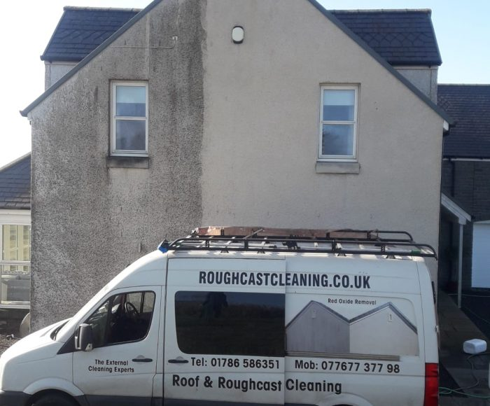 Roughcast Cleaning Before