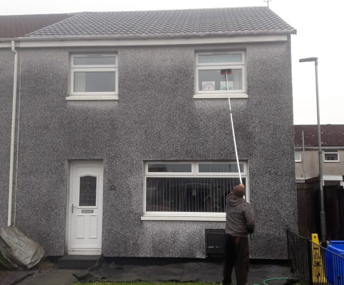 Roughcast Cleaning Tullibody Before